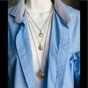 ⬇️NWT Lucky Brand 3 layered necklace two-tone